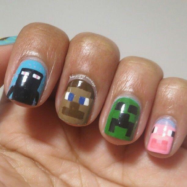Minecraft nail!!?!??!? I want those so so so so so bad!!!!!!!! I love minecraft