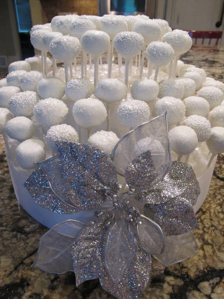 "White cake pops, Frozen party snacks ""snow balls"""