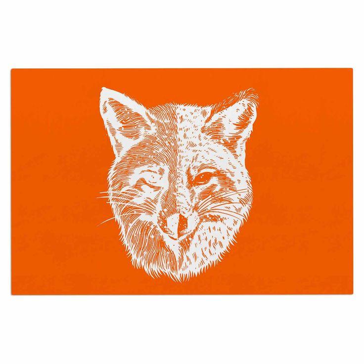 "BarmalisiRTB ""Foxface"" Orange Digital Decorative Door Mat"