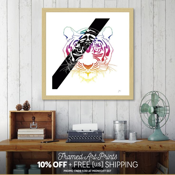 Discover «Tiger», Exclusive Edition Fine Art Print by Omar Gonzalez - From 29€ - Curioos