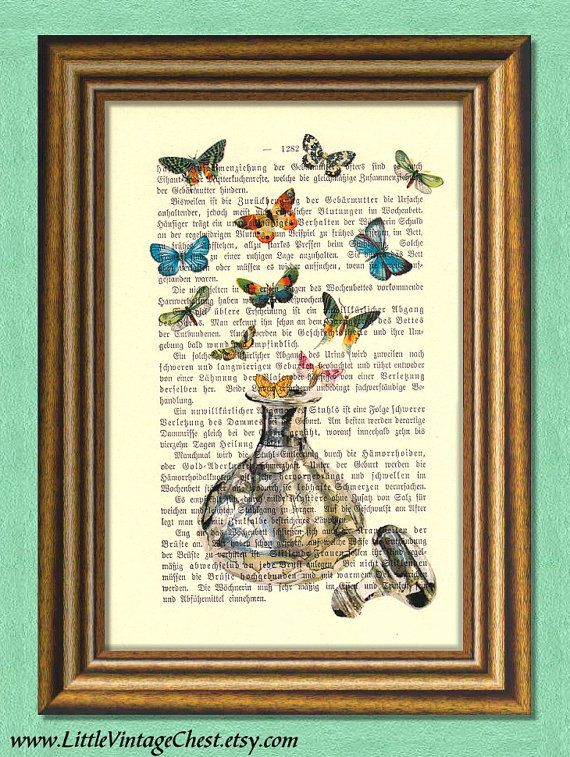COLORS OF FRAGRANCE   Dictionary Art Print by littlevintagechest