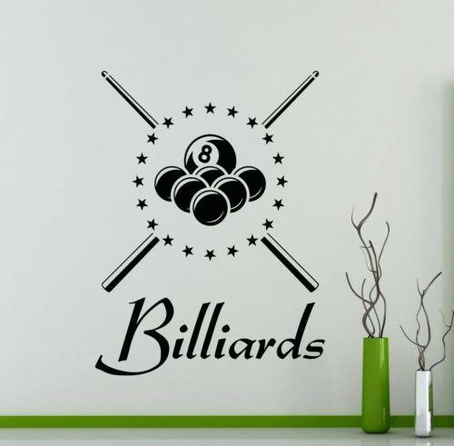 Billiard Wall Decal Vinyl Billiards Sports Pool Sticker