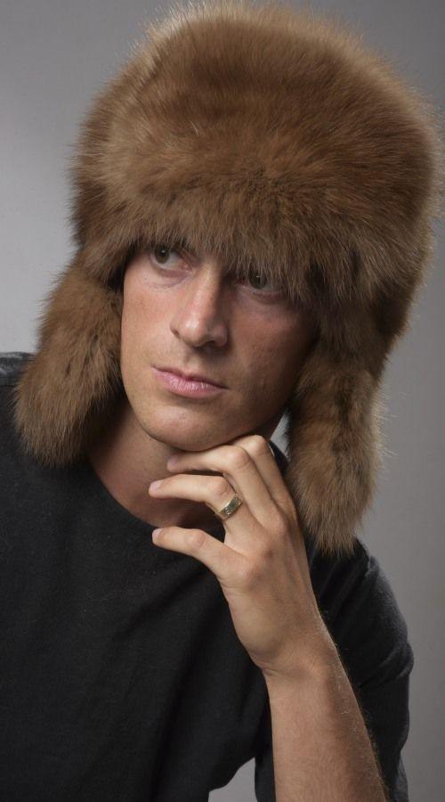 Cappello uomo pelliccia zibellino naturale, stile russo  www.amifur.com