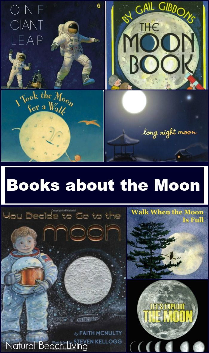 Fiction and Nonfiction Children's Books about the Moon! Perfect for learning about astronomy, a space unit study, and learning about the Moon Phases.