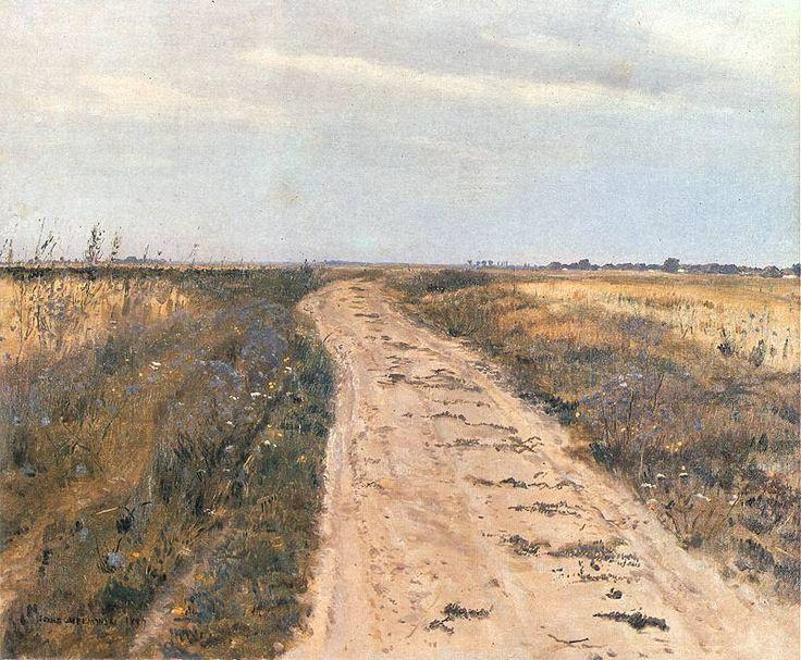 Józef Chełmoński - Droga w polu, 1889