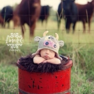 Cute country baby picture.