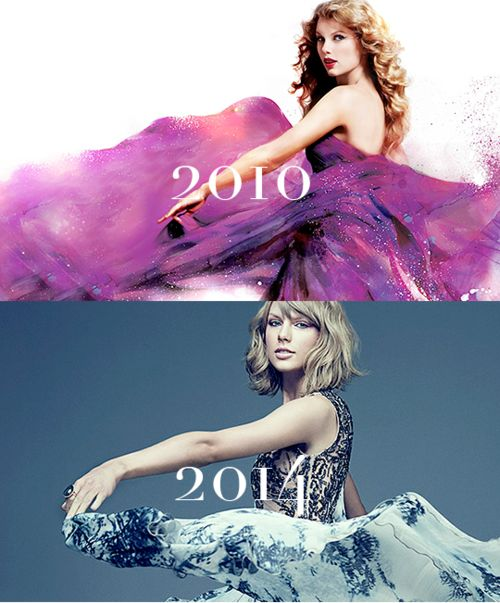 It is so sad how mach she has changed. I really liked long curly haired, modest, country girl Taylor. Not short haired pop queen Taylor.