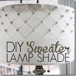 DIY Lampshade Tutorial using a Sweater - Unskinny Boppy