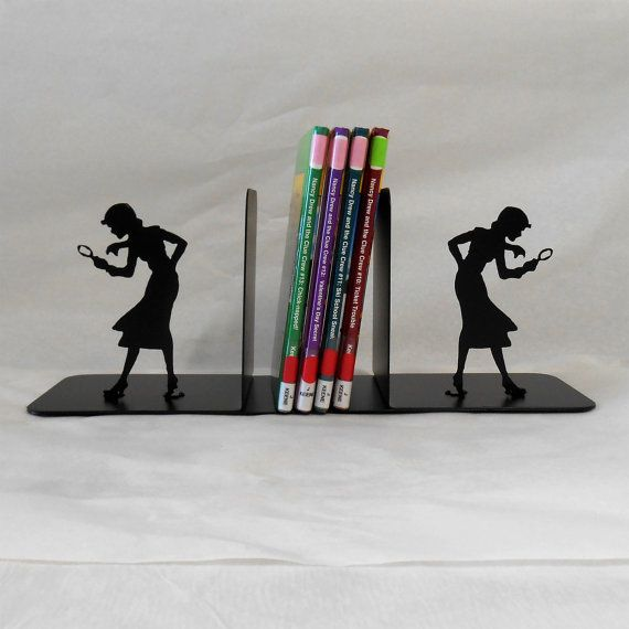 Nancy Drew Bookends by Just4theArtofit on Etsy