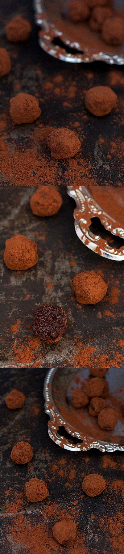 Trufas veganas de chocolate, sin azúcar / http://www.circusday.net/