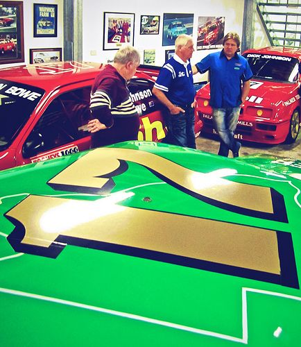 Dick Johnson's Tru-Blu & Greens Tuf Ford Falcons #ford #falcon #v8sc #dick_johnson #trublu #greens_tuf #v8_supercar