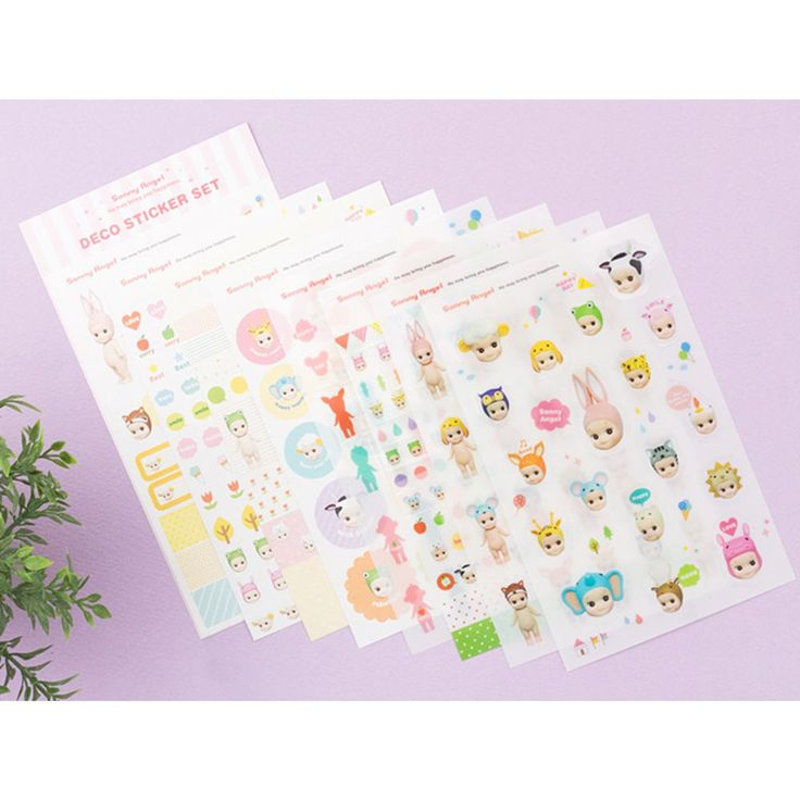 Sony Angel Dolls Mini Figure Deco Sticker Diary Letter Paper Cute Lovely Kawaii #SonyAngel #Transparentpaperstickers