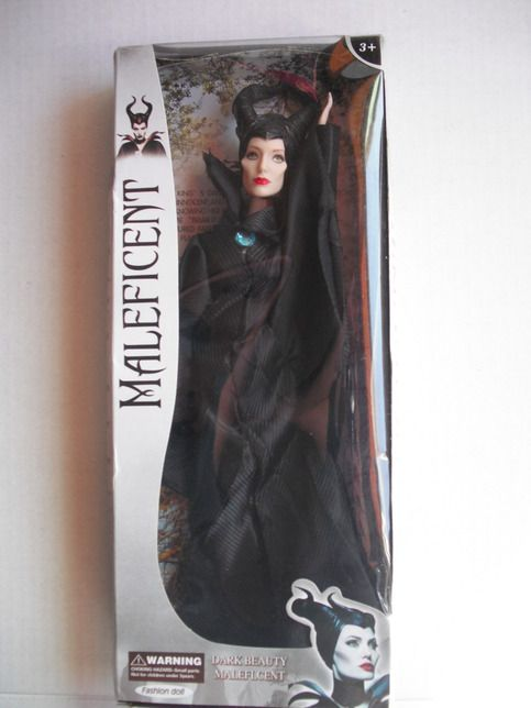 Maleficent Fashion  doll inspired by the popular movie Maleficent a great addition to your collection. Packaging box is slightly damage. Thank you so much for visiting my store.