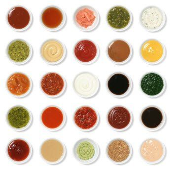 Array of dipping sauces- 10 Kid-Friendly Dipping Sauce Ideas