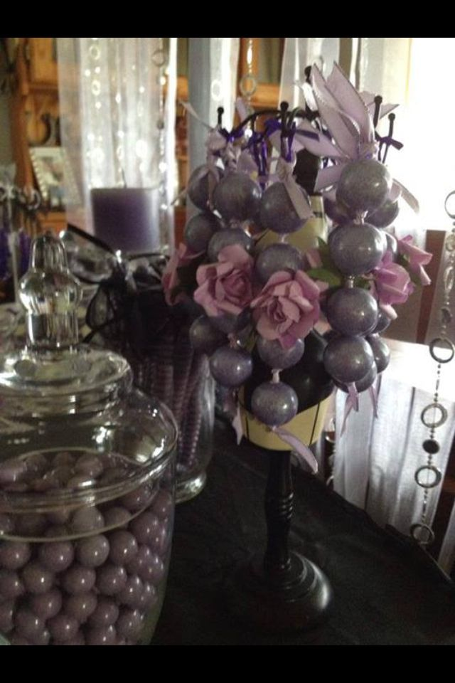 Glitz and glam candy buffet