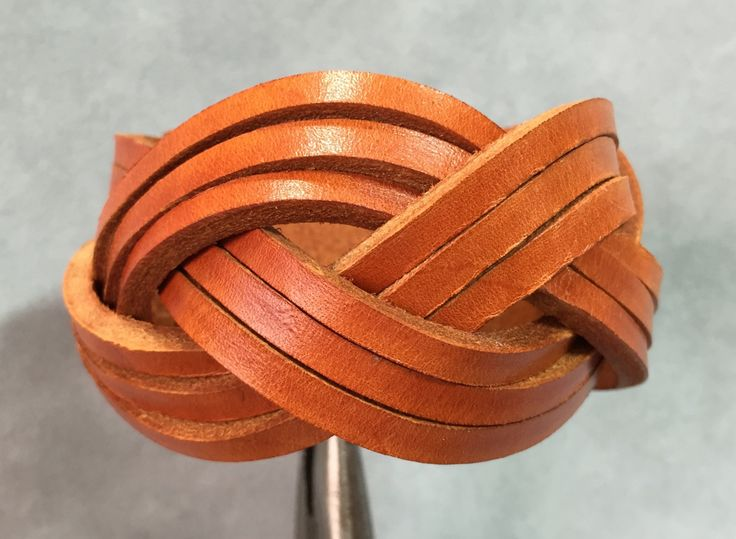 Braided brown leather bracelet - brown braided leather bracelet. by ChristyKeysCreations on Etsy