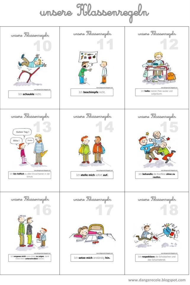 Klassenregeln grundschule bildkarten  1120 best ALEMAN images on Pinterest | German language, Learn ...