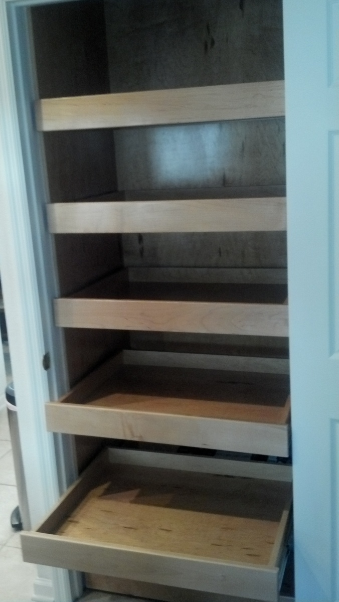 Pantry Cabinet Pull Out Shelves Kitchen Pinterest