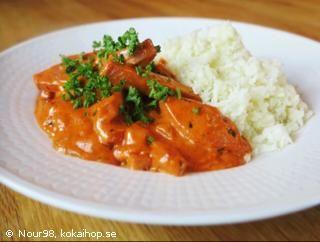 Recept - LCHF Korvstroganoff