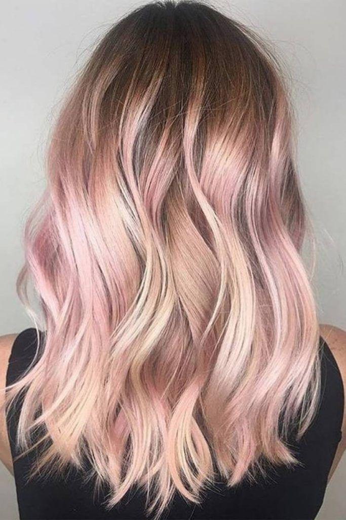 Encantador oro rosa Ideas de color de cabello 2019 para mujeres  cabello   color  encantador  ideas  mujeres 4828de5fb507