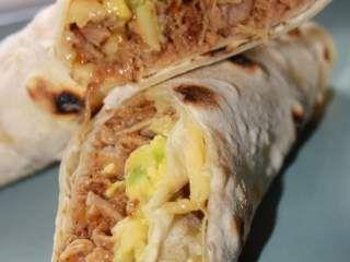 Wraps y Burritos de Carne Mechada