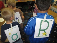 """Kinder Games: """"Be the Word"""" + """"Does my Letter Say?"""" at PreK+K Sharing"""