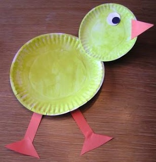 Easter Art: Paper Plate Chick