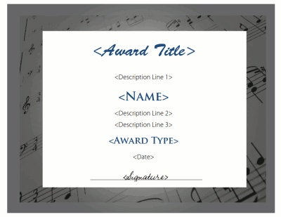 17 best award template images on Pinterest Award template, Award - microsoft word award template