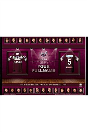 Personalised Gifts | Make Unique Gifts Online - Personalised 2014 NRL Manly Sea Eagles Team Hall of Fame Print