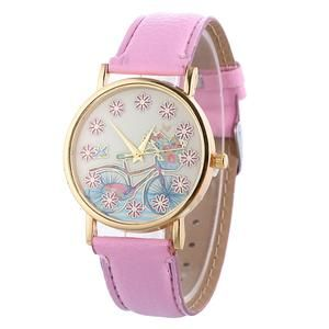 A lovely watch with bicycle patterned dial. 10 colors to choose from. Only $10 on sale. Check it out.