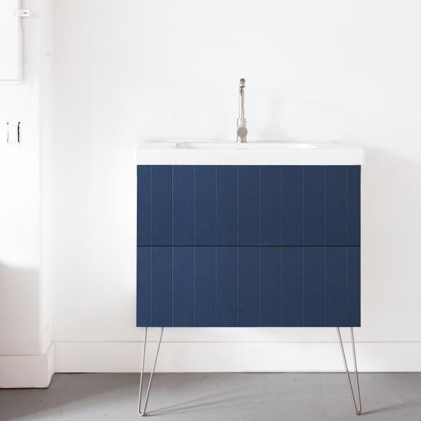 Semihandmade Supermatte Navy Beaded Doors On Ikea Godmorgon Cabinet. Part  Of The SSS   Sarah Sherman Samuel Line.