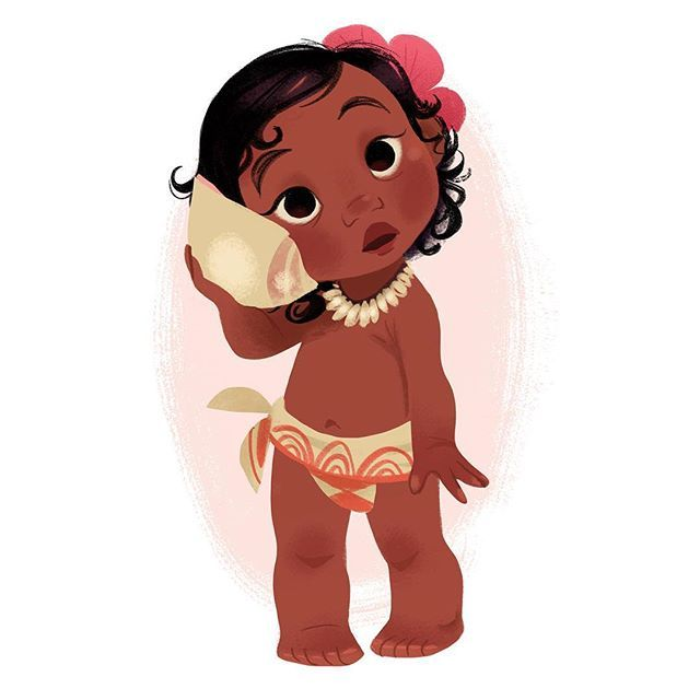 Happy Moana Day! I was so lucky to be able to work on this beautiful movie a couple of years ago, and while most of the things I worked on changed drastically, baby girl stayed mostly the same:) I hope you all love the finished film as much as I do! #moana