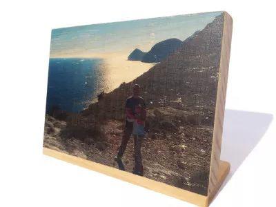Foto impresión en una sola pieza de madera (18cm x12cm) | CraftAndDeco.com