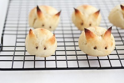 Rabbit Rolls pinned from www.ireallylikefood.com  Just a couple of sissier snips and toothpick punchs