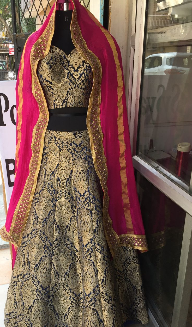 Passion homes borders gold zardozi border handmade designers - Beautiful Lehenga Choli With Gold Vintage Embroidery