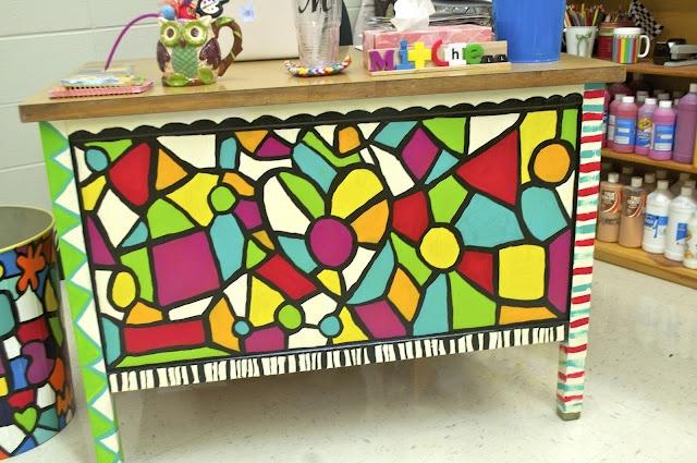 Teacher desk makeover!: Classroom Decor, Schools Ideas, Teacher Desks Makeovers, Art Ideas, Schools Teacher, Classroom Organizations, Desks Ideas, Classroom Ideas, Teacher Organizations