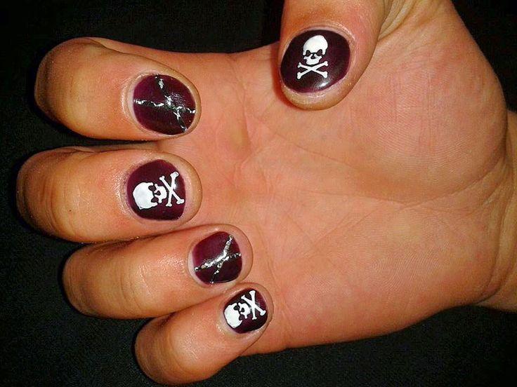 Tutorial nail art Halloween