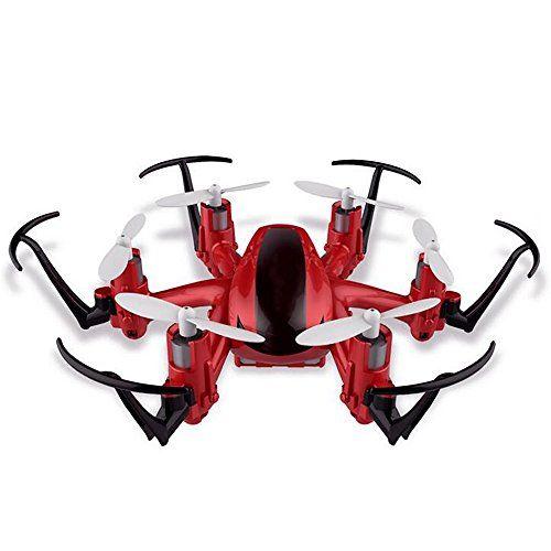 Vococal - JJRC H20 Mini Helicóptero Teledirigido RC del Quadcopter 2.4G 4 Canal 6 Eje Giro Avión Juguetes Modelo con Luces LED,Rojo - http://www.midronepro.com/producto/vococal-jjrc-h20-mini-helicoptero-teledirigido-rc-del-quadcopter-2-4g-4-canal-6-eje-giro-avion-juguetes-modelo-con-luces-ledrojo/