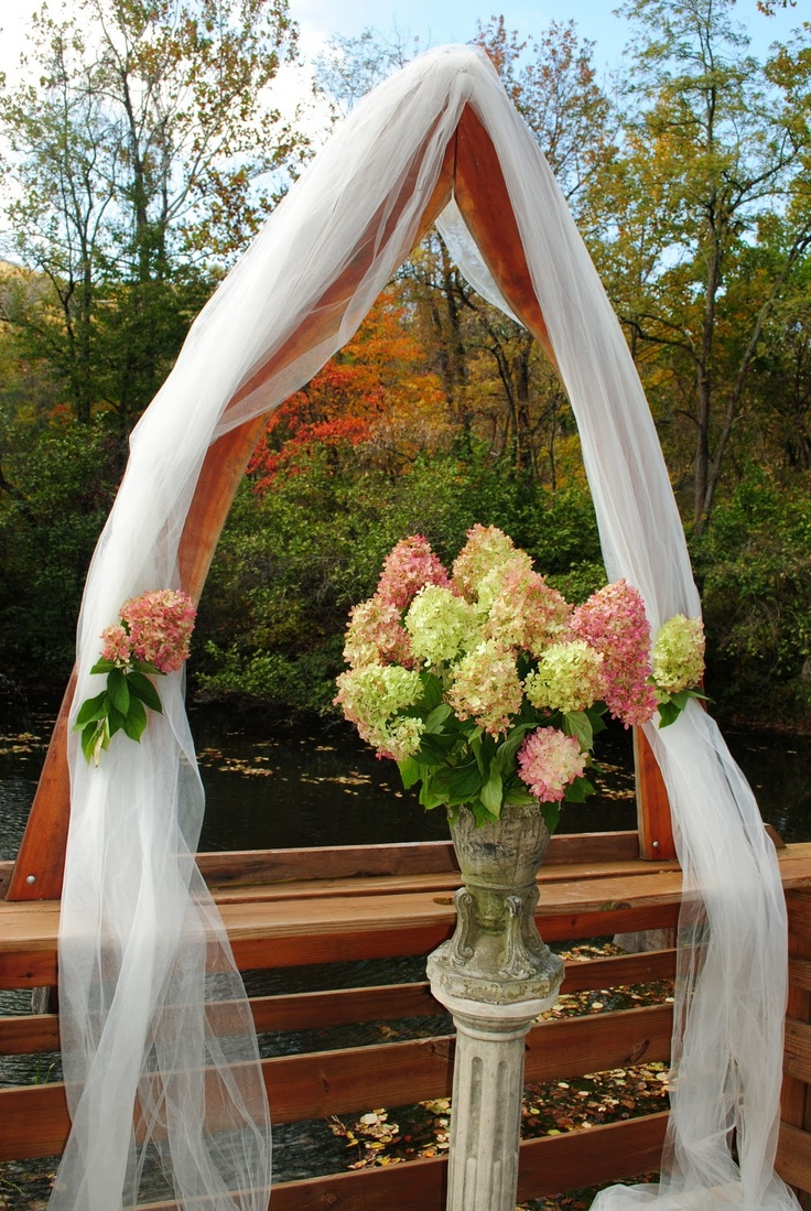 The backdrop for our October 2011 outdoor wedding ceremony.