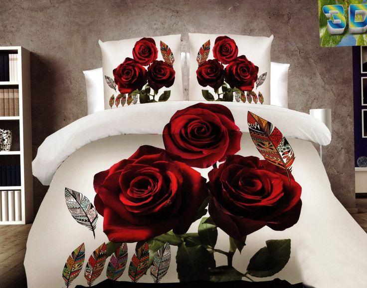 Ruže posteľné obliečky v sivej farbe