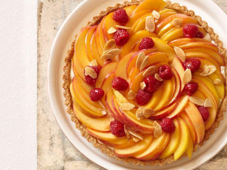 Peach Melba Tart recipe from Food Network Kitchen via Food Network
