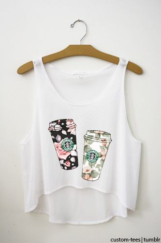 starbuck coffee shirt...cute floral