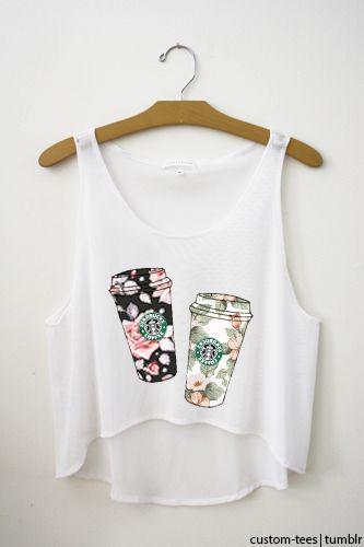 starbuck coffee shirt...cute floral