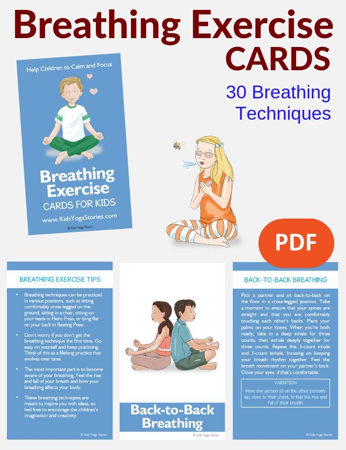 Breathing Exercise Cards for Kids | Autism | Card workout, Yoga for