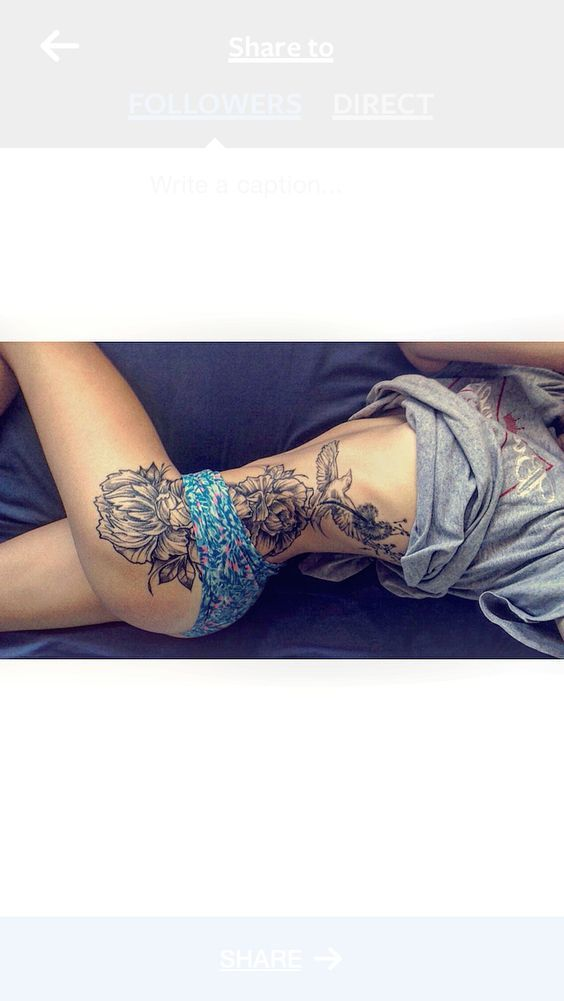 Tattoos.com | Awe Inspiring Floral Thigh Tattoos | Page 12