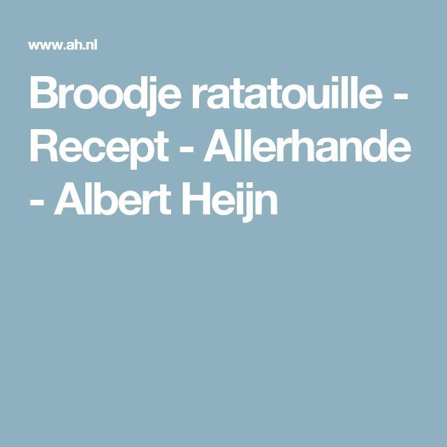 Broodje ratatouille - Recept - Allerhande - Albert Heijn