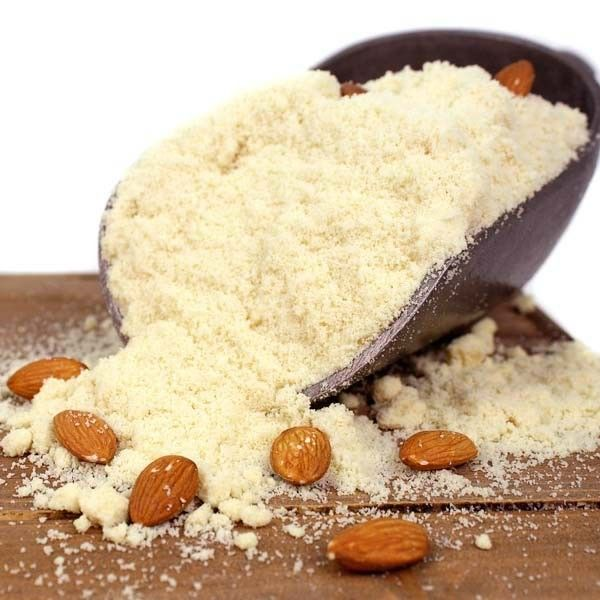 Finely Ground Blanched Almond Flour $39.99 for 5lbs Best for baking since it is finely ground, absorbs moisture better.  Store in the freezer.  You can find lots of almond flour grain free baked goods recipes at www.kateshealthycupboard.com