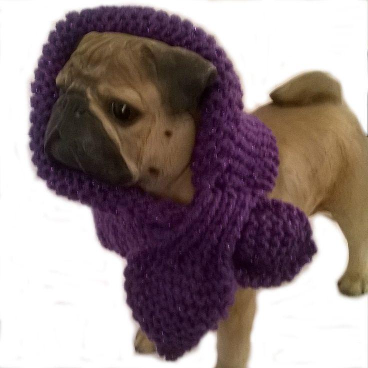 Sparkling purple Miniature Keyhole Scarf, Dog Bandana, dog scarf, dog scarves, dog accessories, dog neck warmer, griffon, Pet scarves UK - pinned by pin4etsy.com