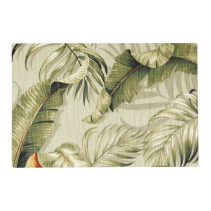 500 Floral Foliage Tropical Placemat - kitchen gifts diy ideas decor special unique individual customized