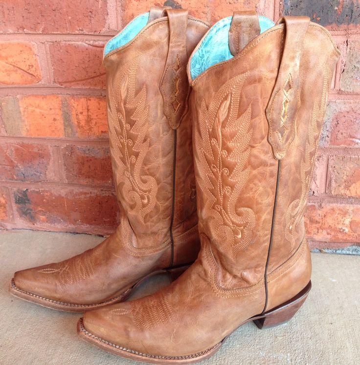 Rivertrail Mercantile - Corral Vintage Tan Cowhide Boots C1928, $199.99 (http://www.rivertrailmercantile.com/corral-vintage-tan-cowhide-boots-c1928/)